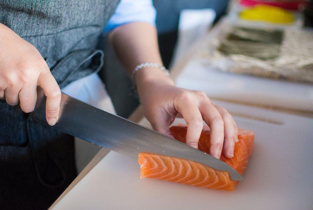 salmon cocinado